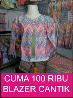 blazer batik cantik murah