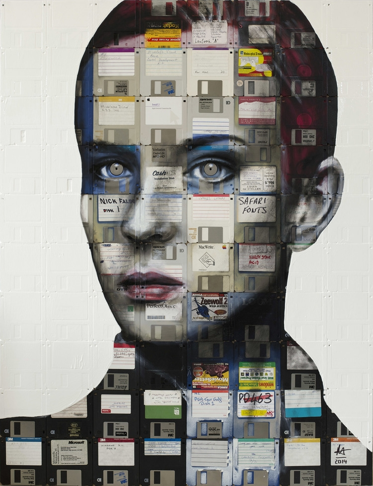 11-Fade-computer-floppy-disks-Nick-Gentry-Painting-on-Recycled-and-Obsolete-Technological-Materials-www-designstack-co