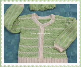 crochet girls sweater, crochet headband