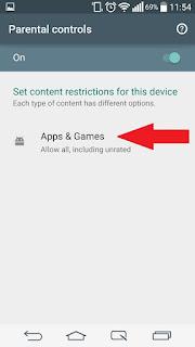 Set up Parental Lock on Google Play Store