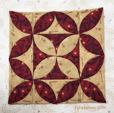 Dear Jane Quilt - Block J10 Chieko's Calia Lily