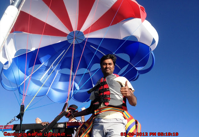 Parasailing in Lake Tahoe south shore