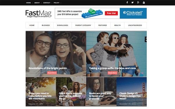 FastMag Free Blogger Template