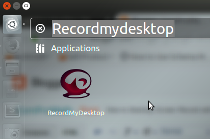 RecordMyDesktop in Ubuntu Search Bar