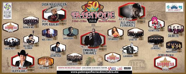 programa palenque fiestas de octubre 2015