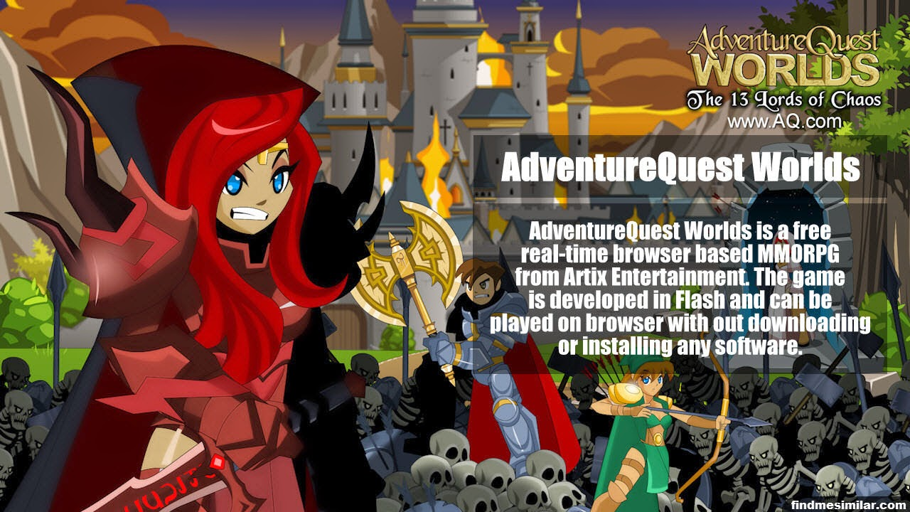 AdventureQuest Worlds a similar game like RuneScape