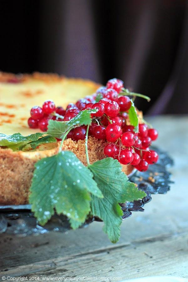 kremowy sernik z czerwoną porzeczką i pieprzem cayenne