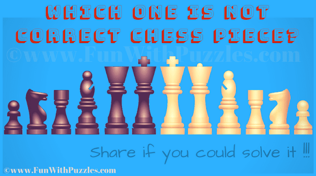 It is Chess Picture Riddle in which one has to find which of the given chess pieces is not correct
