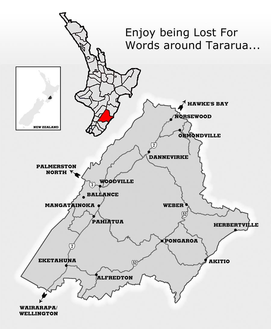 Lost For Words by Cecilia Russell — Tararua Word Picture