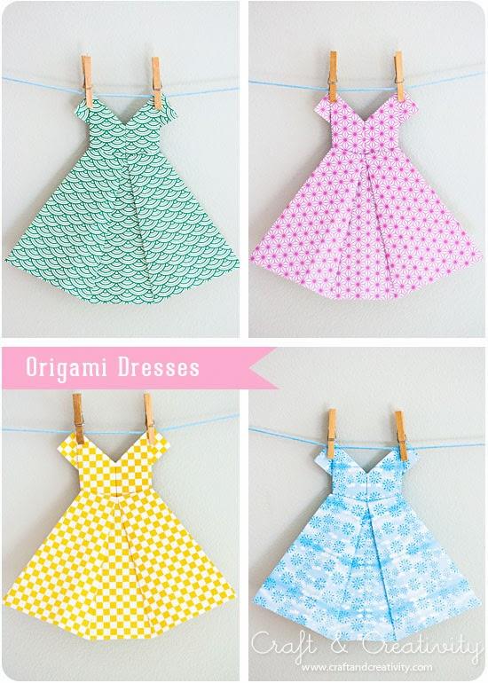 kilika hecho a mano origami vestido