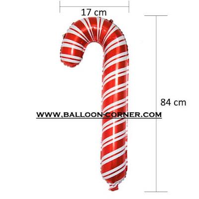 Balon Foil Tongkat Santa Claus