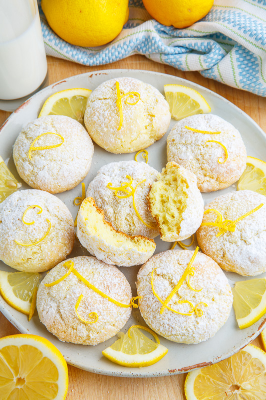 Soft and Chewy Lemon Cheesecake Cookies