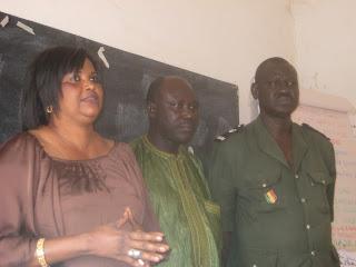 Prison Project Coordinator Aissatou Kebé, Training Facilitor Cheick Sène, Assistant Prison Director Assane Ndiaye