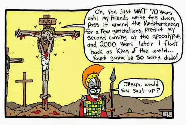 Funny Jesus Cross Joke Picture Cartoon