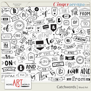 "NEW ""Catchwords"" Word Art Pack + Free Word Art!"