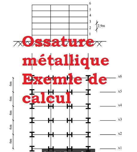 calcul structure m tallique pdf exemple cours g nie civil outils livres exercices et vid os. Black Bedroom Furniture Sets. Home Design Ideas