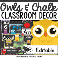 https://www.teacherspayteachers.com/Product/Owl-Themed-Classroom-Decor-743420