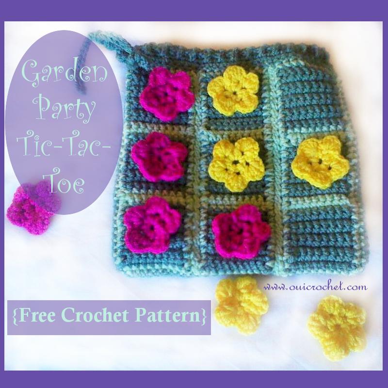 Crochet, Free Crochet Pattern, Crochet Games, Crochet Toys, Crochet Tic-Tac-Toe, Crochet Bag, Crochet Flowers,