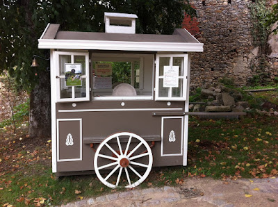 The cute ticket office for the 'potager' at Chateau Colbert in Maulévrier