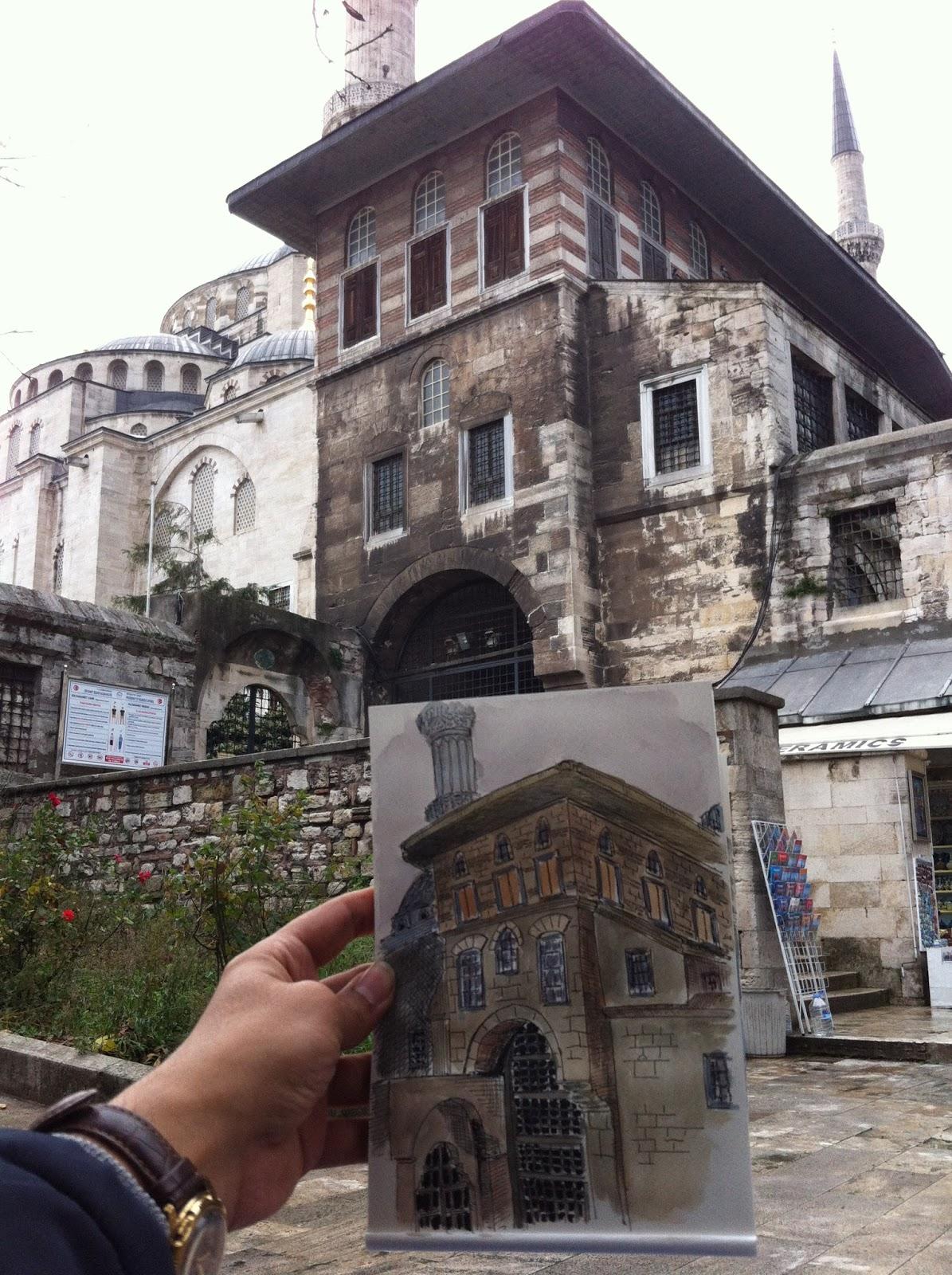 Yerinde çizer Sultanahmet çizim Günü 2