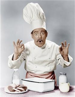 Elderly learning to cook modern ingredients