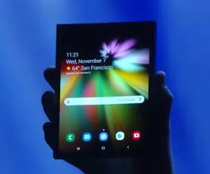 Samsung presenta junto a Google su smartphone con pantalla plegable