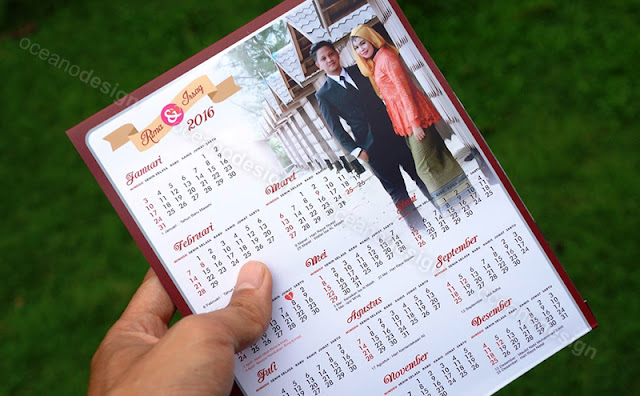 undangan model kalender meja