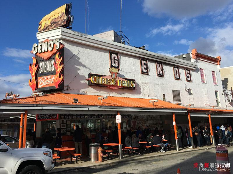 [美國] 費城市區【Geno's Steaks】費城著名排隊美食 美味起司牛排漢堡(Cheese Steaks)