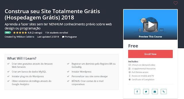 Construa seu Site Totalmente Grátis (Hospedagem Grátis) 2018