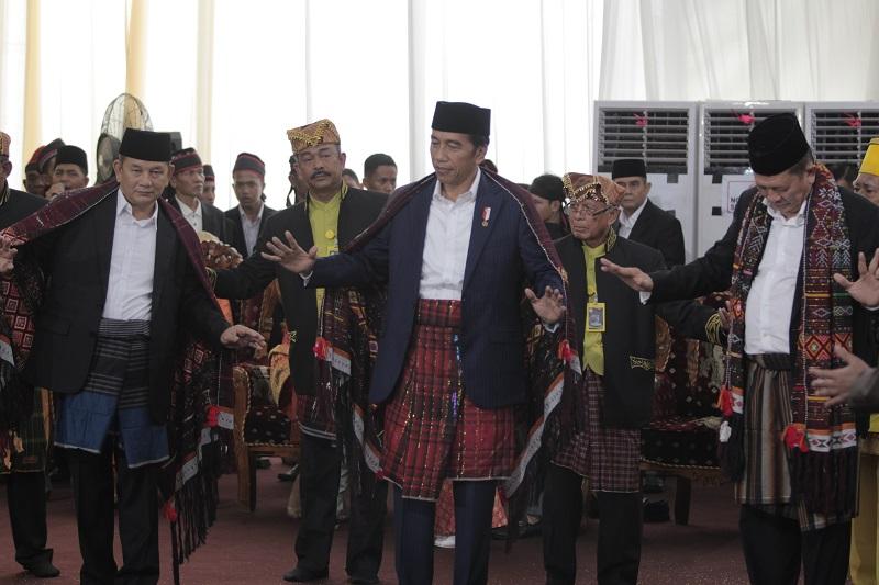 Presiden RI Joko Widodo di acara pernikahan putrinya.