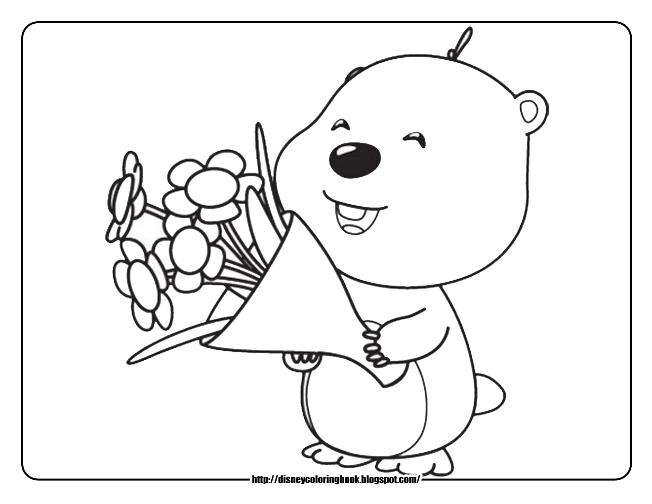 Pororo The Little Penguin Coloring Pages Loopy