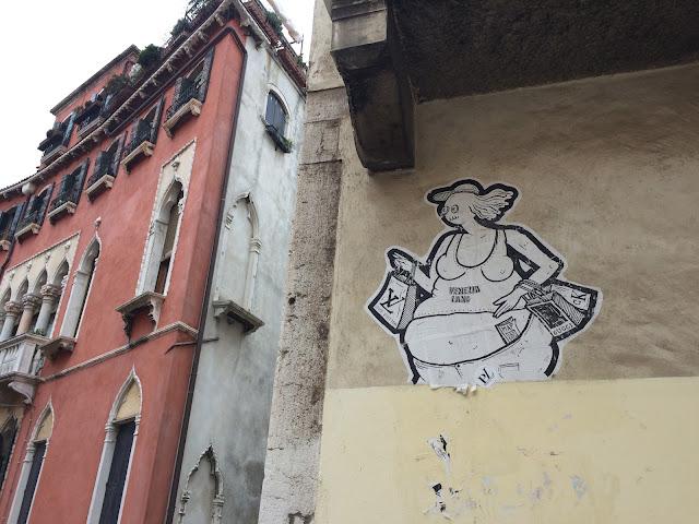 Venice Tourist street art