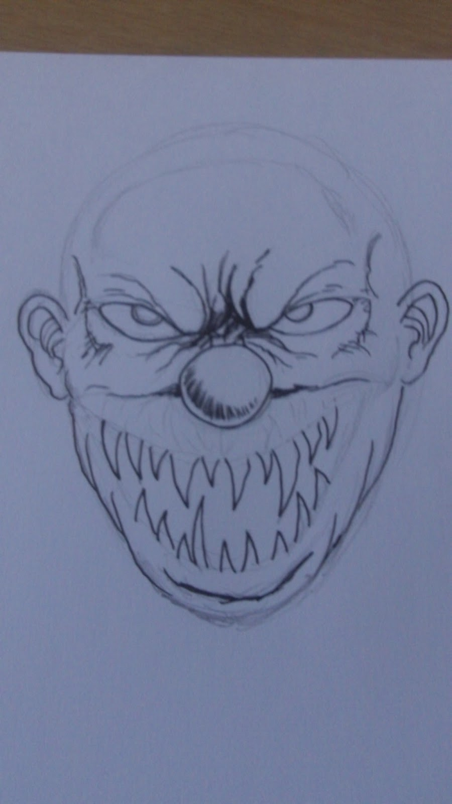 Wayne Tully Fantasy Art: How To Draw A Demon Clown Face