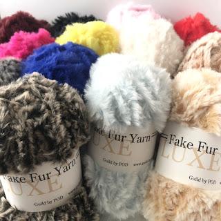 新商品☆Luxe Fake Fur Yarn/リュクスフェイクファー毛糸/Guild by POD 毛糸ズキ!