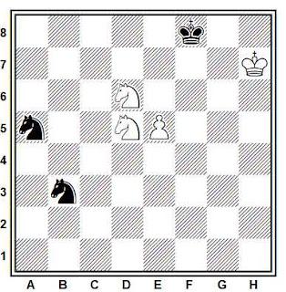 Estudio artístico de ajedrez compuesto por Paul Heuäcker (Deutsche Schachblätter 1937)