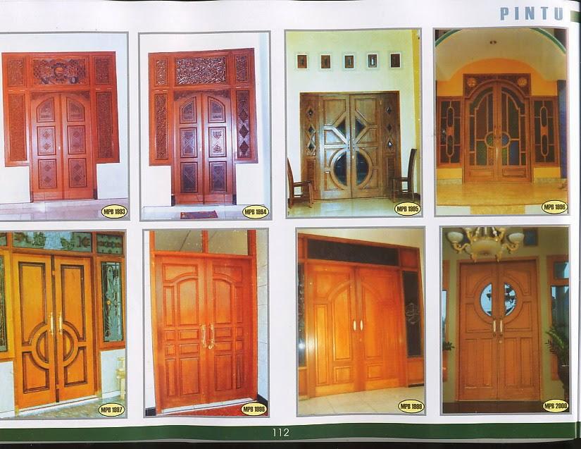 kumpulan gambar pintu bahan kayu jati asli