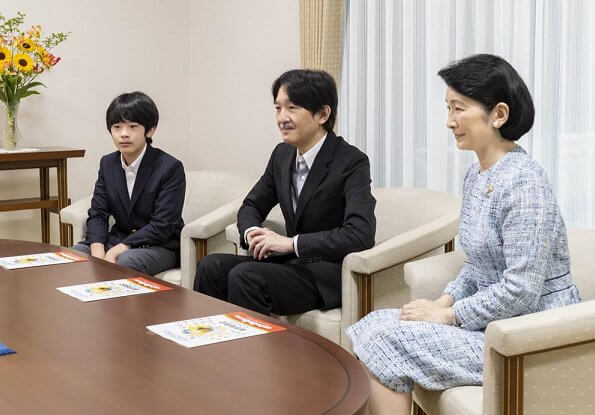 Crown Prince Akishino, Crown Princess Kiko, Prince Hisahito, Princess Mako and Princess Kako