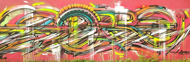 """""""Abstraction"""" By French Street Artist Hopare In Limours, France. 7"""