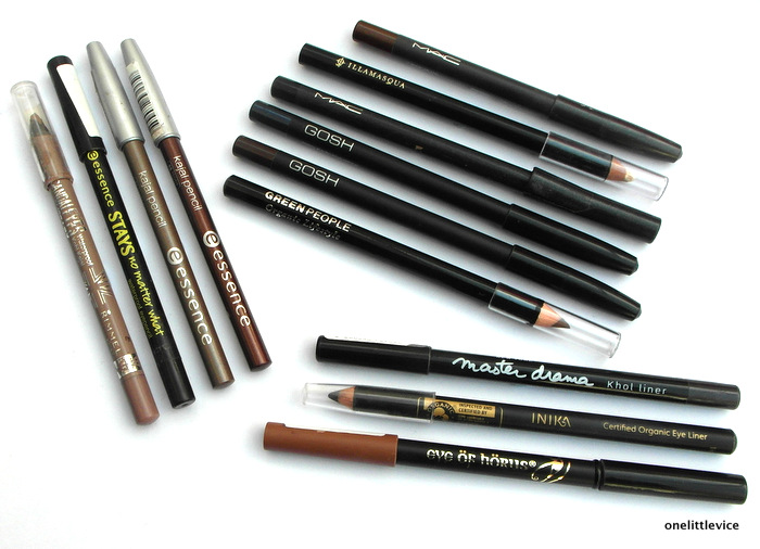 onelittlevice beauty blog: eyeliner collection reviews