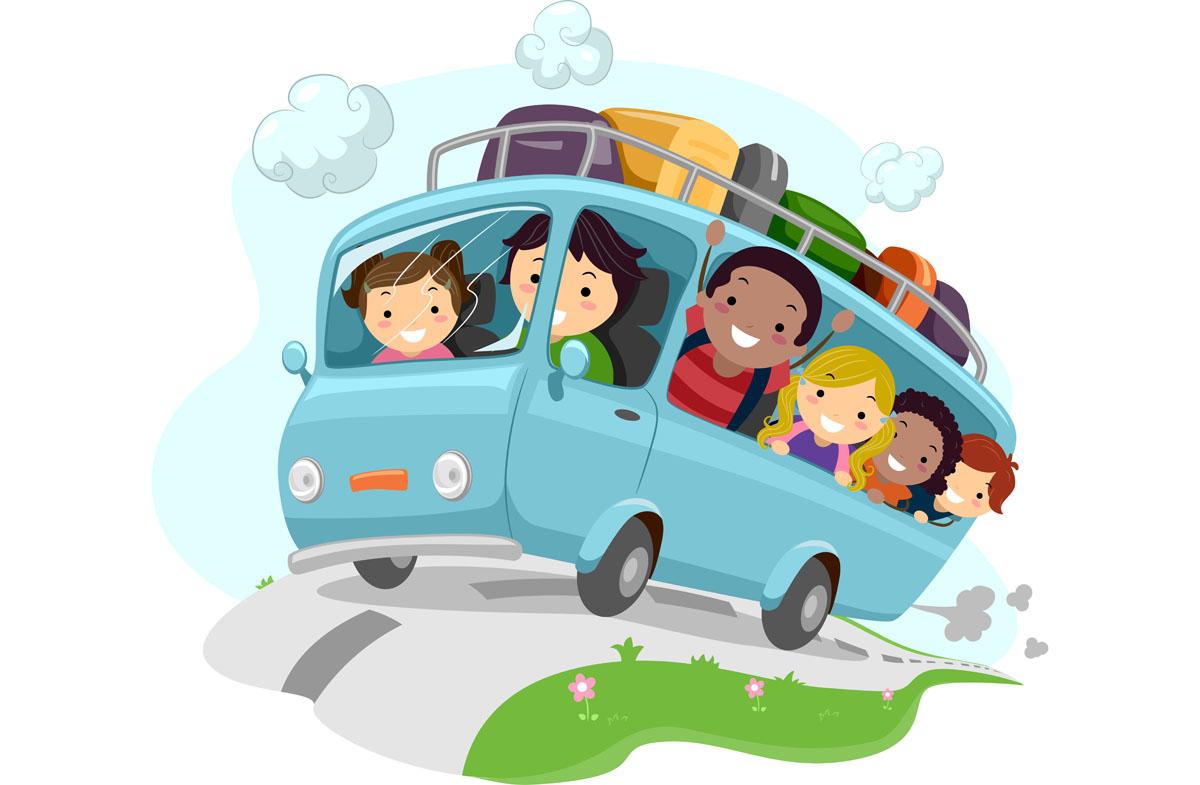Znalezione obrazy dla zapytania wesoły autobus z dziećmi rysunek