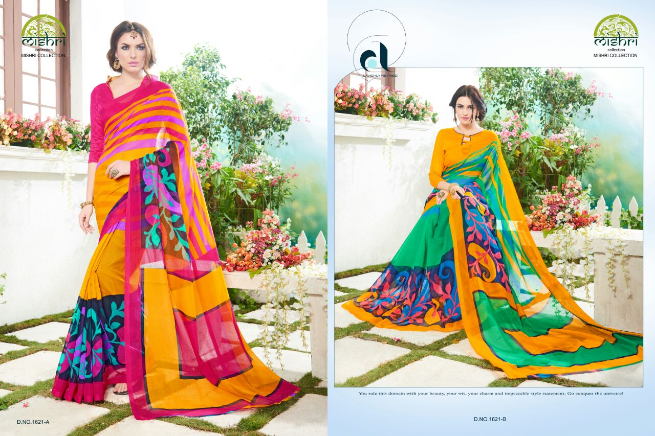 Mishri- Latest Fashion Printed Summer Net & Seno Silk Saree