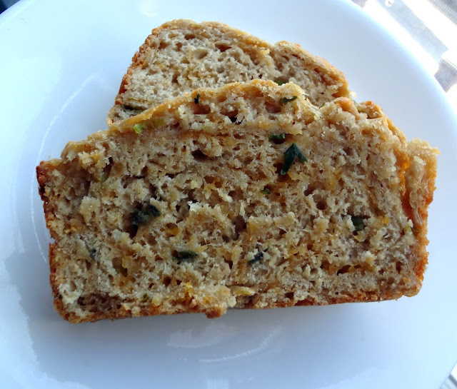 Cheddar, Asiago, and Scallion Beer Bread