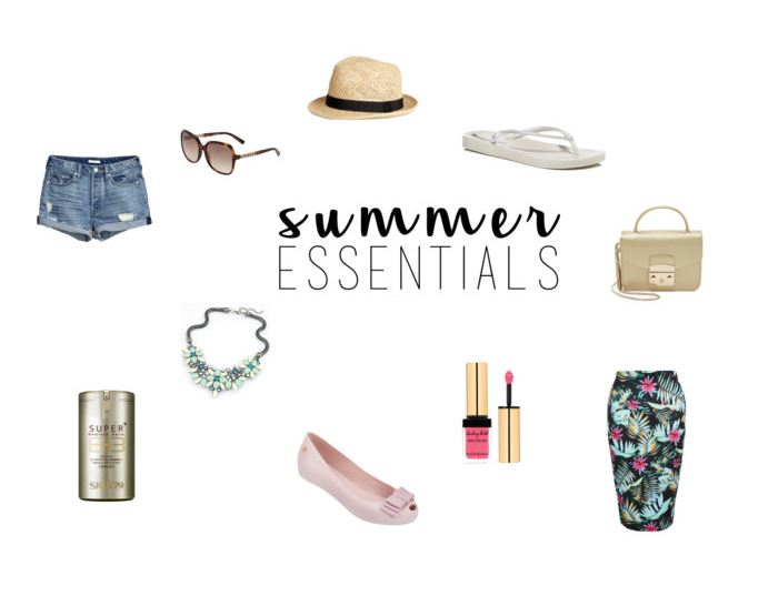 Moje must have na lato Summer essentials Furla mini, Melissa, Skin79,