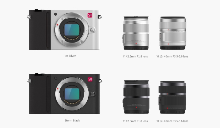YI M1 Kit Mirrorless Digital Camera (Yi 12-40mm f/3.5-5.6) (Storm Black)