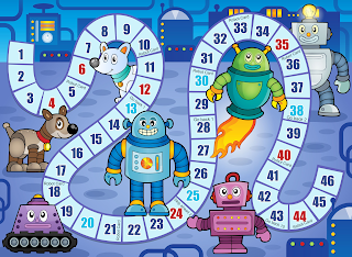 Free Robot Birthday Party Printables- Game Board