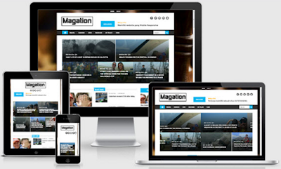 Magation Responsive Megazine Blogger Template Free Download