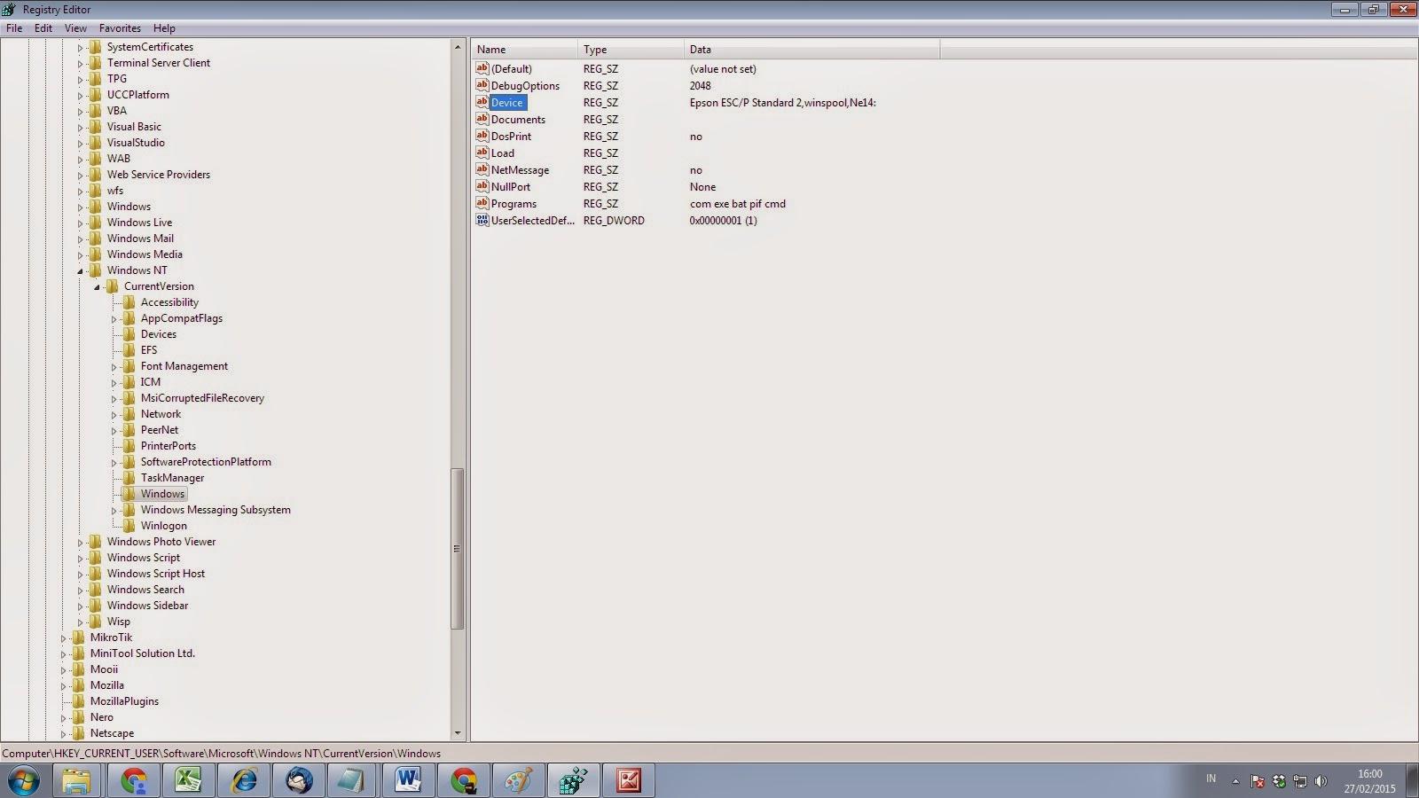 how to set wifi printer as default