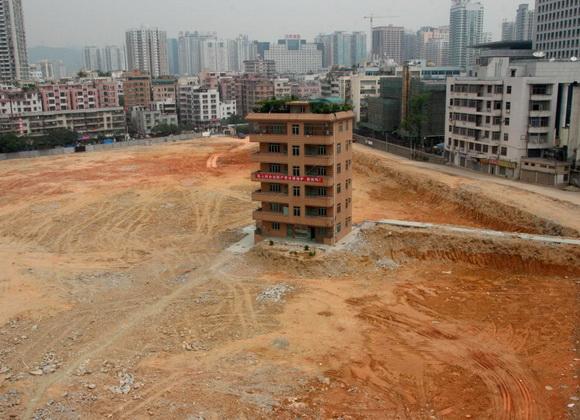 Rumah Paku di Shenzhen, Cina