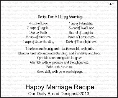 "ODBD ""Happy Marriage Recipe"""