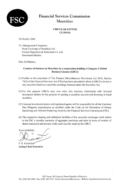 Amar fsc mauritius issues circular letter cl181016 on gbc 2 fsc mauritius issues circular letter cl181016 on gbc 2 trading on securities exchange in mauritius thecheapjerseys Choice Image